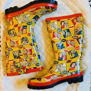 Shoes - 1950 comic style rubber rain boots